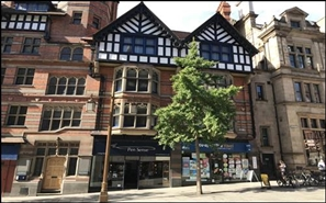 420 SF High Street Shop for Rent  |  Queens Chambers, Nottingham, NG1 2BH