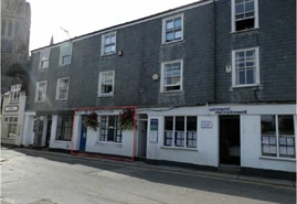 375 SF High Street Shop for Rent  |  8 Old Bridge Street, Truro, TR1 2AQ