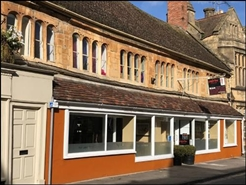 919 SF High Street Shop for Rent  |  Church House Gallery, Sherborne, DT9 3LN