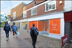 1,291 SF High Street Shop for Rent  |  13 Swan Lane, Guildford, GU1 4EQ