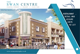 Shopping Centre Unit for Rent  |  The Swan Centre, Rugby, CV21 3EB.
