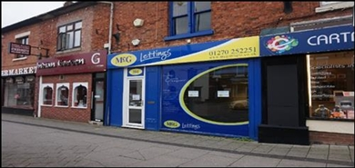 535 SF High Street Shop for Rent  |  201 Nantwich Road, Crewe, CW2 6DD