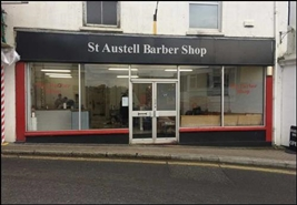 599 SF High Street Shop for Rent  |  8 Bodmin Road, St Austell, PL25 5AE