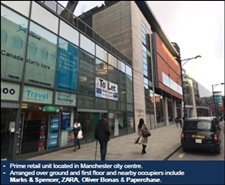 716 SF High Street Shop for Rent | 5 St Mary'S Gate, Manchester, M1 1PX