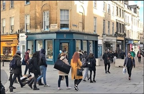 522 SF High Street Shop for Rent  |  14 New Bond Street, Bath, BA1 1BE