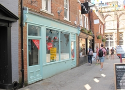 888 SF High Street Shop for Rent  |  16 Gandy Street, Exeter, EX4 3LS