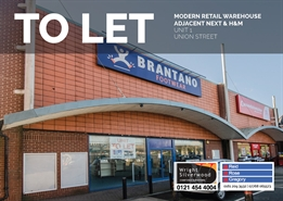 8,162 SF Out of Town Shop for Rent  |  Unit 1, Union Street, Burton Upon Trent, DE14 1AA