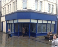 1,044 SF High Street Shop for Rent  |  1 George Street, Pontypool, NP4 6LR