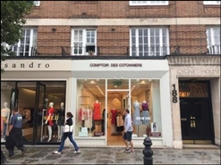 550 SF High Street Shop for Rent | 188A Kings Road, London, SW3 5XP