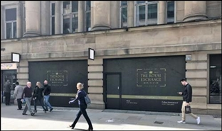 3,002 SF High Street Shop for Rent  |  The Royal Exchange, Manchester, M2 7DH