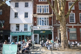 572 SF High Street Shop for Rent  |  12 Minster Street, Salisbury, SP1 1TF