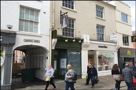 246 SF High Street Shop for Rent  |  1A Low Pavement, Chesterfield, S40 1PF