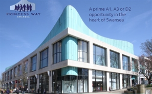 Shopping Centre Unit for Rent  |  Unit 7, Princess Way, Swansea, SA1 5HE
