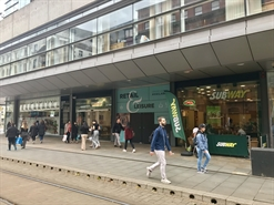 938 SF High Street Shop for Sale  |  Unit B2 Mosley Street, Manchester, M1 4AH