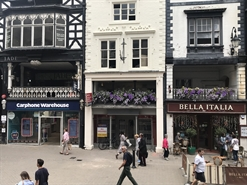 675 SF High Street Shop for Rent | 27 Eastgate Street, Chester, CH1 1LG