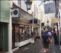 564 SF High Street Shop for Rent  |  Royal Arcade, Cardiff, CF10 1AE