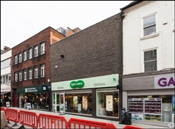 1,596 SF High Street Shop for Rent | 64 - 65 Broad Street, Worcester, WR1 3LY