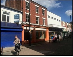 861 SF High Street Shop for Rent  |  25A Bradshawgate, Leigh, WN7 4ND