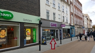 1,238 SF High Street Shop for Rent | 63 Broad Street, Worcester, WR1 3LY