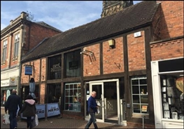 1,228 SF High Street Shop for Rent  |  45 Bore Street, Lichfield, WS13 6NB
