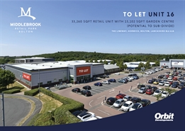 33,260 SF Retail Park Unit for Rent  |  Unit 16 Middlebrook Retail Park, Horwich, BL6 6JA