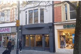 1,082 SF High Street Shop for Rent  |  47 Commercial Street, Newport, NP20 1LP