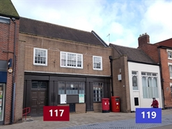 1,118 SF High Street Shop for Rent  |  119 High Street, Bromsgrove, B61 8AA