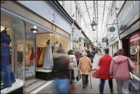 600 SF High Street Shop for Rent  |  19 Royal Arcade, Cardiff, CF10 1AE