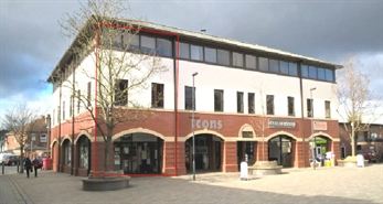 841 SF High Street Shop for Rent  |  Unit 1 St Davids Building, Mold, CH7 1DD