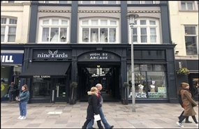 674 SF High Street Shop for Rent  |  High Street Arcade, Cardiff, CF10 1BB