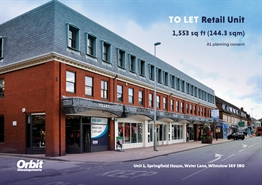 828 SF High Street Shop for Rent  |  Unit 1, Springfield House Water Lane, Wilmslow, SK9 5BG