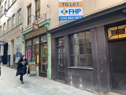592 SF High Street Shop for Rent  |  6 Byard Lane, Nottingham, NG1 2GJ