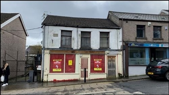 580 SF High Street Shop for Rent  |  2 Bargoed Terrace, Treharris, CF46 5RB