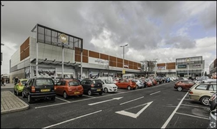 1,192 SF High Street Shop for Rent  |  Unit 8-9, Crown Point North Retail Park, Manchester, M34 3JP