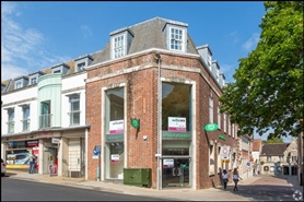 1,418 SF High Street Shop for Rent  |  Trinity House, Dorchester, DT1 1DH